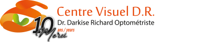 Centre Visuel D.R. Logo, Optometrist and Eyewear.